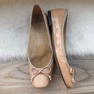 Stuart weitzman beige patent leather ballerina
